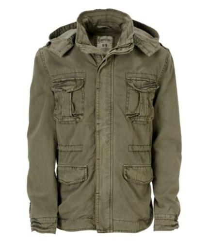 Aeropostale Mens Lined Military Jacket cliffbeige S