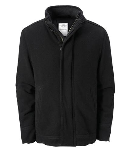 Aeropostale Mens Solid Heavy Wool Military Jacket black L