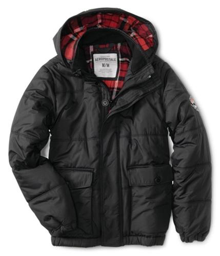 Aeropostale Mens Aero Ny87 Puffer Jacket black S