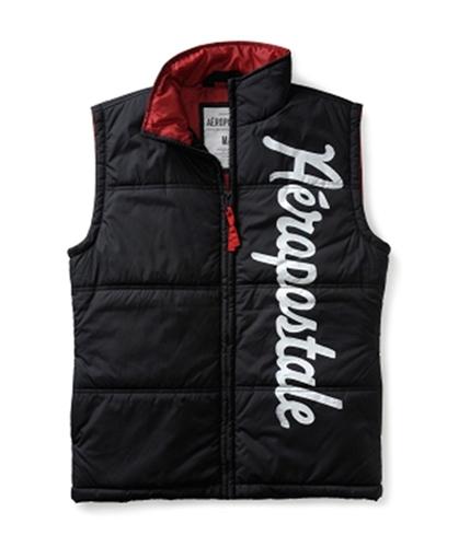 Aeropostale Mens Verticle Puffer Sweater Vest black XL