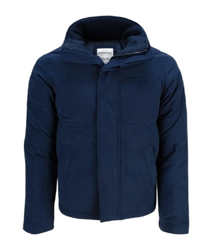 Aeropostale Mens Down Feathers Puffer Jacket navyblue XS