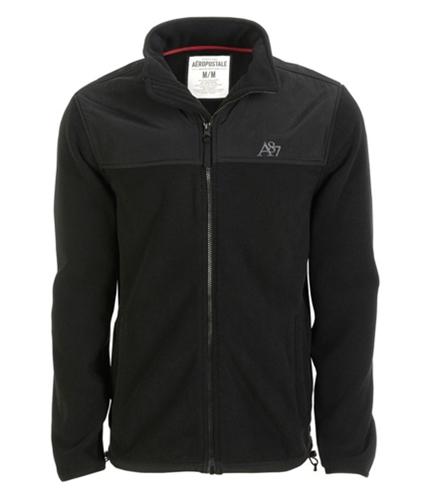 Aeropostale Mens Fleece Zip Up Sweatshirt black XXS