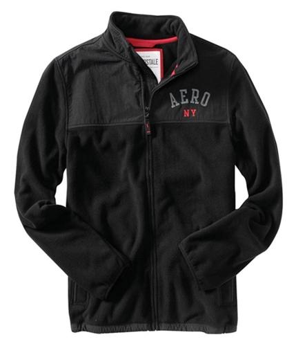 Aeropostale Mens Aero Ny Denali Zip Up Fleece Sweatshirt black XS