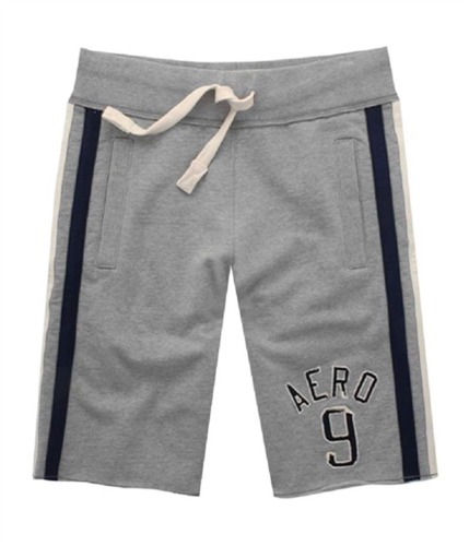 Aeropostale Mens Pockets Embroidered Letters Athletic Sweat Shorts lththrgray XL
