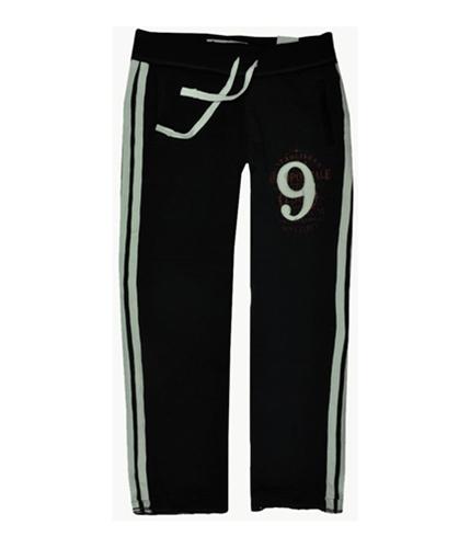 Aeropostale Mens Fleece Lined Open-leg Embroidered Casual Sweatpants black L/32