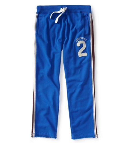 Aeropostale Mens Embroidered Side Stripe Casual Sweatpants active XS/32