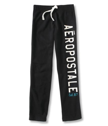 Aeropostale Mens Est. 87 Lounge Work Out Athletic Sweatpants black M/32