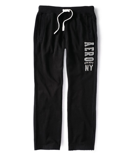 Aeropostale Mens Ath Dept Ny Lounge Work Out Athletic Sweatpants black XS/32