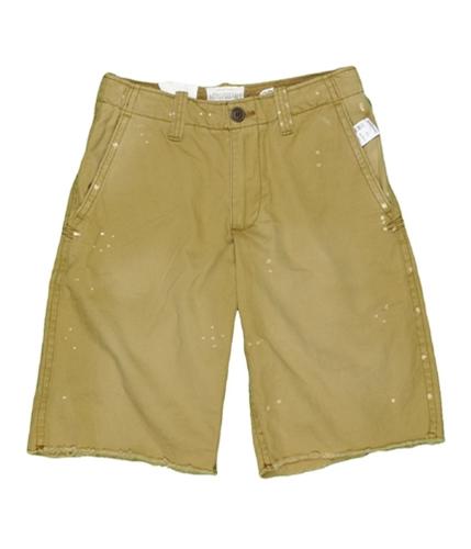 Aeropostale Mens Flat Khaki Casual Chino Shorts goldenkhakitan 28