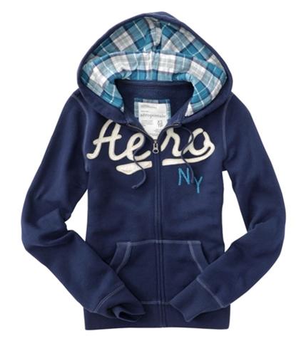 Aeropostale Womens Aero Ny Hoodie Sweatshirt navyblue XS