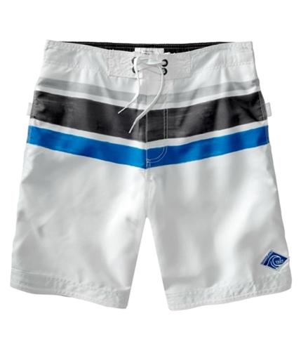 Aeropostale Mens Stripe Surf Swim Bottom Board Shorts bleachwhite XS