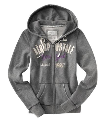 Aeropostale Womens New York Hoodie Sweatshirt mediumgray 2XL