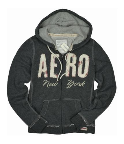 Aeropostale Womens Aero New York Hoodie Sweatshirt charcoalgray M