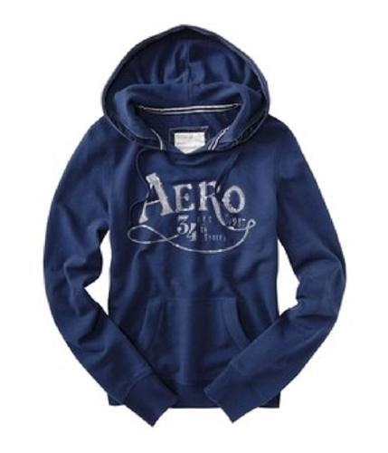 Aeropostale Womens Aero 34th St Hoodie Sweatshirt navyblue XS