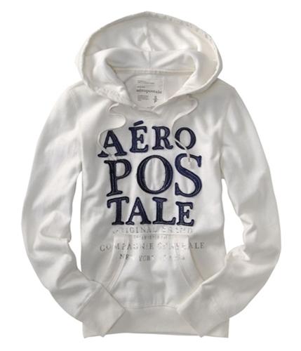 Aeropostale Womens Original Hoodie Sweatshirt bleachwhite XS