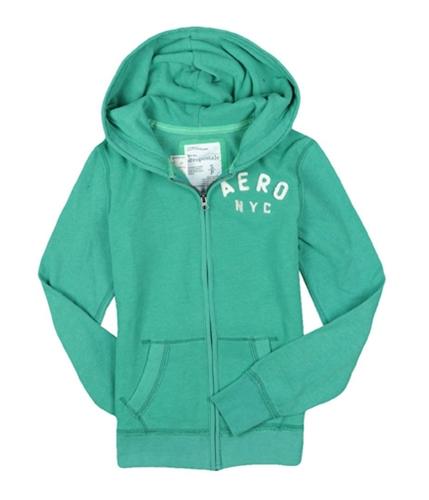 Aeropostale Womens #4 Aero Hoodie Sweatshirt greens S