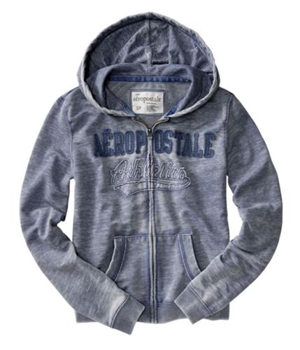 Aeropostale Womens Athletics Hoodie Sweatshirt steelblue XS