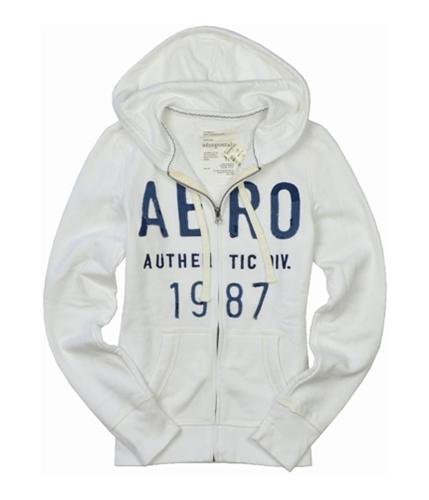 Aeropostale Womens Aero 1987 Hoodie Sweatshirt bleachwhite XS