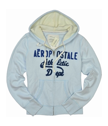Aeropostale Womens Dept Zip Up Hoodie Sweatshirt paleblue S