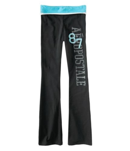 Aeropostale Womens Stretch Lounge Yoga Pants black XS/32