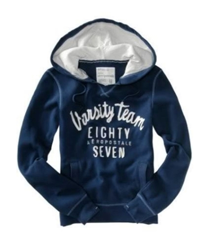 Aeropostale Womens Varsity Hoodie Sweatshirt navyblue XS