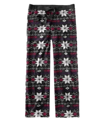 Aeropostale Womens Fleece Sleep Pajama Sweatpants charcoalgray M/32