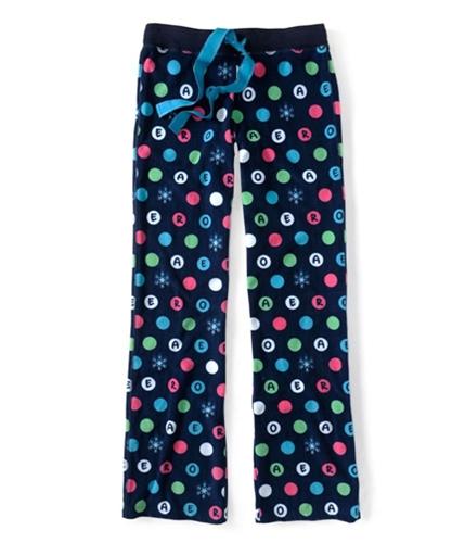 Aeropostale Womens Dot Poly Sleep Pajama Sweatpants navyni M/32