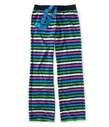 Aeropostale Womens Stripe Fleece Pajama Sweatpants navyni XXS/34