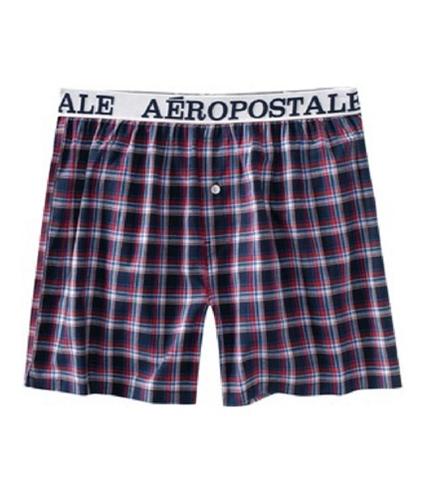 Aeropostale Mens Plaid Underwear Boxers deepna M