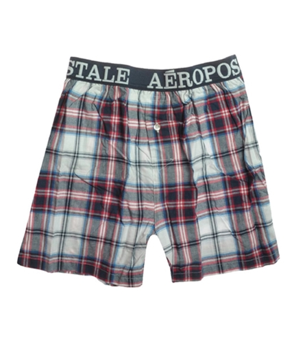 Aeropostale Mens Plaid Underwear Boxers deepna S