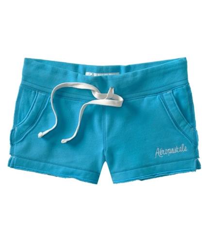 Aeropostale Womens Aero Fleecey Casual Mini Shorts curacoaqua XS