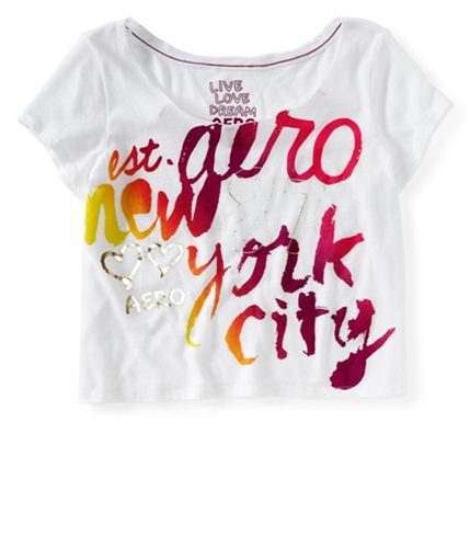 Aeropostale Womens Cropped New York City Graphic T-Shirt 689 XS