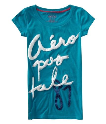 Aeropostale Womens Glitter 87 Pajama Sleep T-shirt surfgreen XL