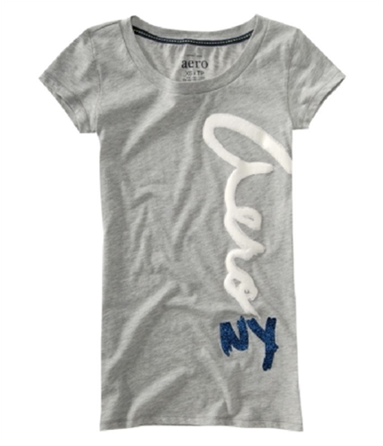 Aeropostale Womens Sparkle Graphic T-Shirt lightheather M