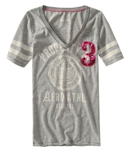 Aeropostale Womens Embroidered Graphic Pajama Sleep T-shirt lththrgray XS