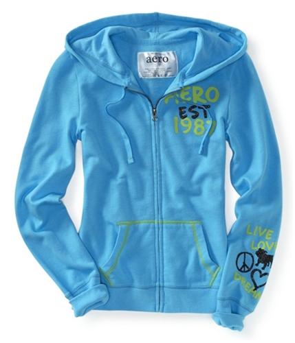 Aeropostale Womens Aero Est 1987 Zip Up Hoodie Sweatshirt 420 XS