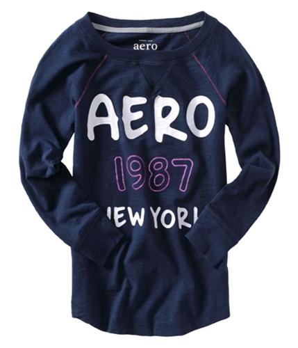 Aeropostale Womens 1987 New York Pajama Sleep T-shirt navyniblue S