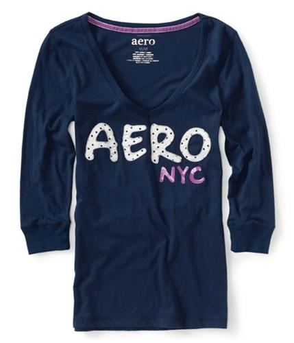Aeropostale Womens Aero Nyc Pajama Sleep T-shirt navy XS