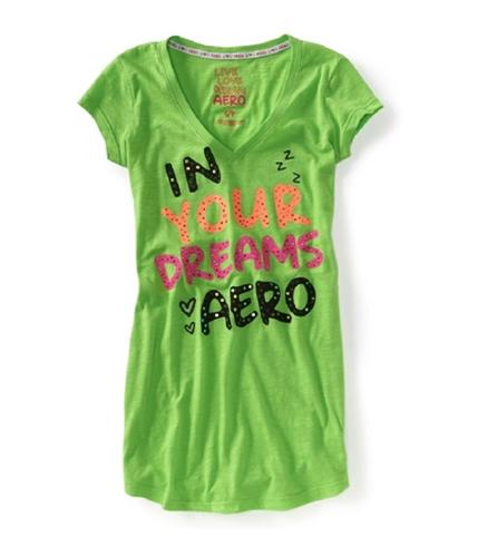 Aeropostale Womens Rhinestone Pajama Sleep T-shirt 377 XS