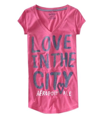 Aeropostale Womens Rhinestone Pajama Sleep T-shirt petuniapink XL