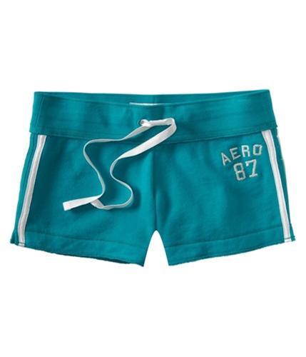 Aeropostale Womens Aero 87 Terrycloth Casual Mini Shorts blues XS