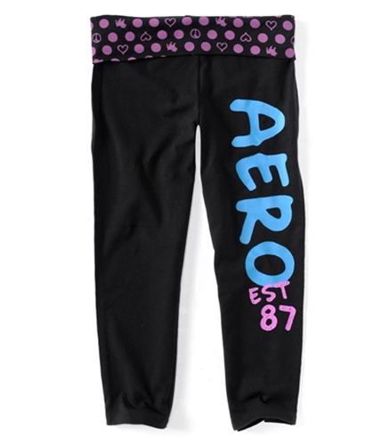 Aeropostale Womens Cropped Yoga Athletic Sweatpants purple S/26