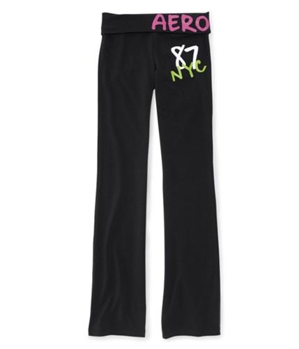 Aeropostale Womens Nyc Yoga Pants black XS/34