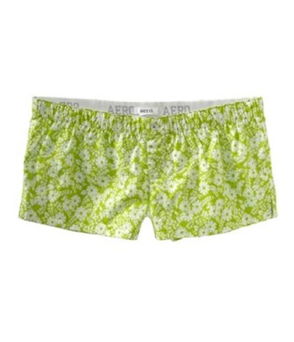 Aeropostale Womens Aero Floral Lounge Pajama Shorts honeydew XXS