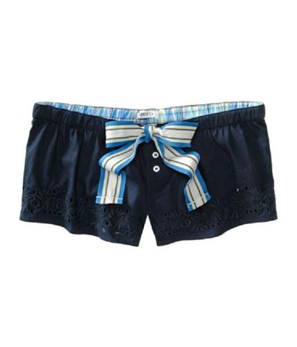 Aeropostale Womens Eyelet Hole Casual Mini Shorts blues XXS