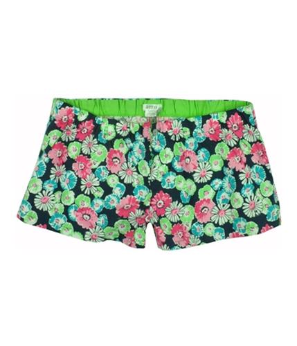 Aeropostale Womens Elastic Band Floral Sleep Pajama Shorts navynifloral XXS