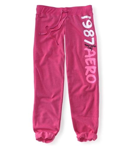 Aeropostale Womens Ankle Length Pajama Sweatpants pink66 XXS/32