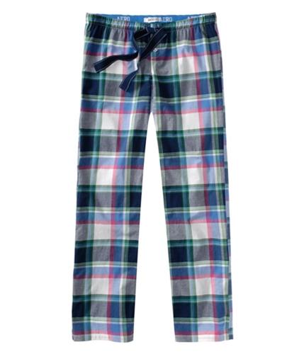 Aeropostale Womens Full Length Plaid Sleep Pajama Lounge Pants skydiveblue XS/32