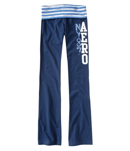 Aeropostale Womens Straight Casual Trouser Pants navyblue XS/26