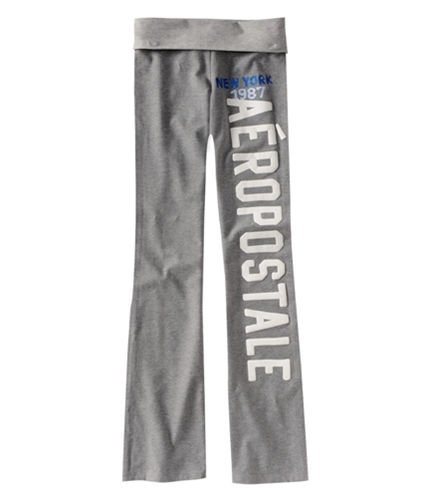 Aeropostale Womens New York 1987 Yoga Pants medgre S/32
